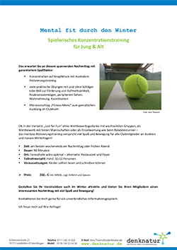 Tennis Winterangebot